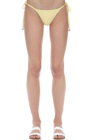 Peony Women Bikinis - Banana String Ribbed Bikini Bottoms