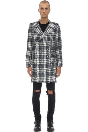 FAITH CONNEXION Long Double Breast Tech Tweed Coat