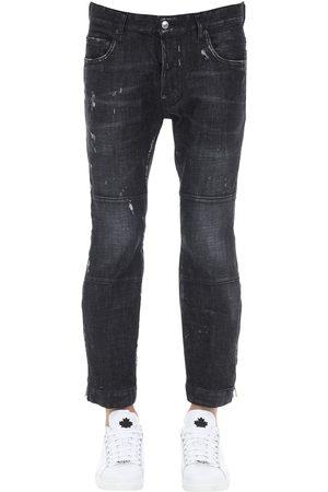 Dsquared2 15cm Ski-biker Cotton Denim Jeans