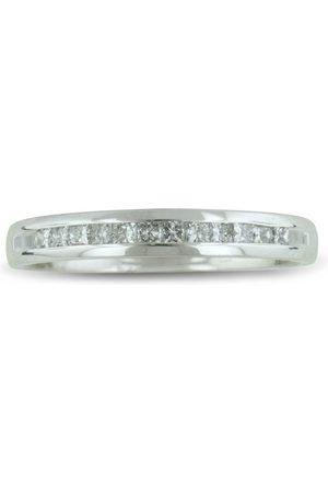 SuperJeweler 1/4 Carat Channel Set Diamond Comfort Fit Anniversary Wedding Band Ring in 14k (2.1 g)