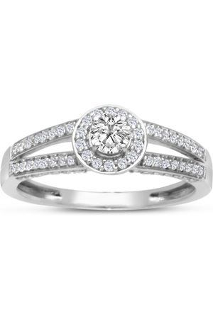 SuperJeweler 1/2 Carat Halo Diamond Engagement Ring in (3.3 g)