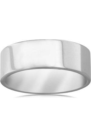 Hansa 8 MM Polished Flat Top Men's Titanium Ring Wedding Band by SuperJeweler