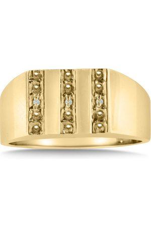 Hansa Men's Diamond Ring Crafted in Solid 14K