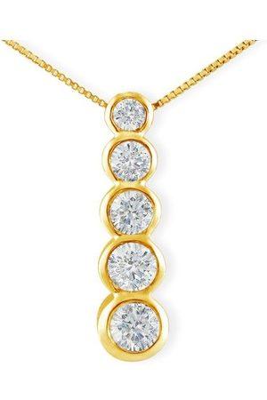 SuperJeweler 3/4 Carat Bezel Set Journey Diamond Pendant Necklace in 14k (3.9 g)