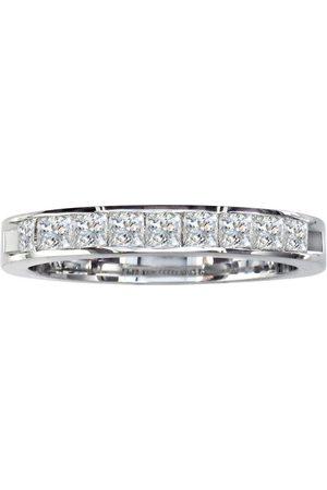 SuperJeweler Women Rings - 1/4 Carat Princess Cut Diamond Channel Set Wedding Band set in 14k (2.7 g)
