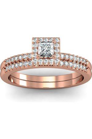 SuperJeweler Gorgeous 1/2 Carat Pave Diamond Bridal Ring Set