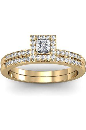 SuperJeweler Gorgeous 1/2 Carat Halo Diamond Bridal Ring Set