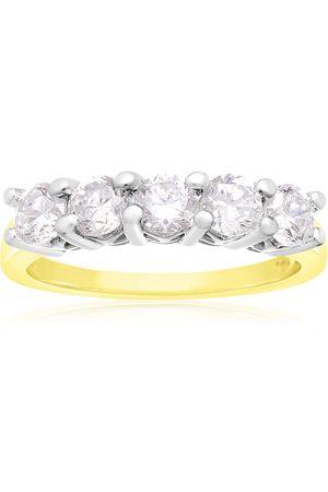 SuperJeweler 1 Carat Five Diamond Prong Set Wedding Band in