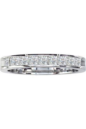 SuperJeweler 1/2 Carat Princess Cut Diamond Channel Set Wedding Band