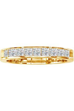 SuperJeweler 3/4 Carat Princess Cut Diamond Channel Set Wedding Band