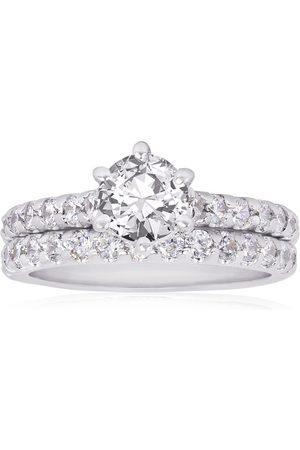 SuperJeweler 2 Carat Classic Prong Set Bridal Engagement Ring Set in 14K (6.1 g)