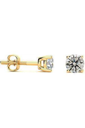 SuperJeweler Women Necklaces - 1/2 Carat Diamond Stud Earrings & Necklace Set in 14k