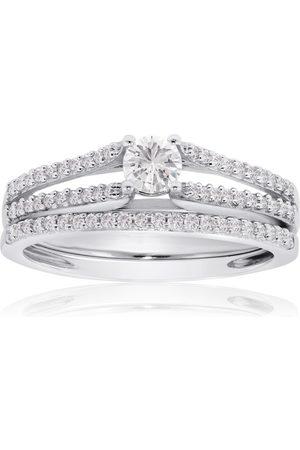 SuperJeweler 1/2 Carat Diamond Bridal Engagement Ring Set in 14K