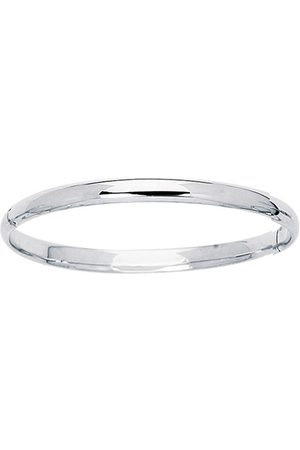 SuperJeweler 14K (3.1 g) 5.5mm 5.50 Inch Children's All Shiny Bangle Bracelet by