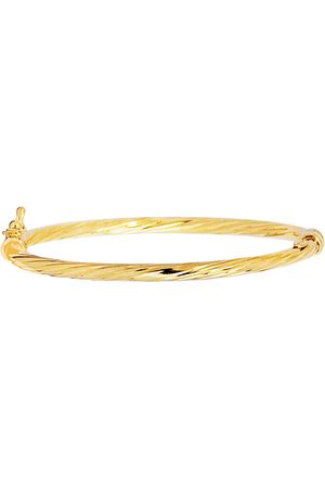 SuperJeweler 14K (3 g) 5.5mm 5.50 Inch Children's Shiny Round Tube Twisted Bangle Bracelet by