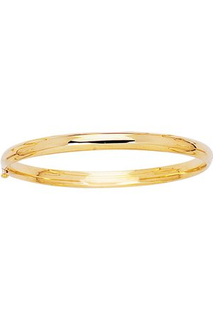SuperJeweler 14K (3.3 g) 5.5mm 5.50 Inch Children's All Shiny Bangle Bracelet by