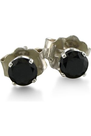 SuperJeweler 1/4 Carat Black Diamond Stud Earrings in