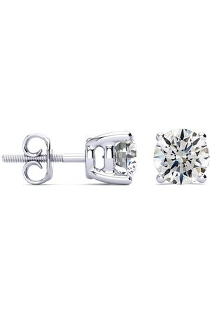 Hansa 1 3/4 Carat Round Diamond Stud Earrings Set in 14k