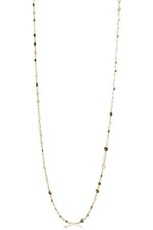 SuperJeweler 58 Carat Multi Color Tourmaline Gemstone Necklace in 14K Over Sterling Silver