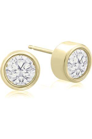 SuperJeweler 3/4 Carat Bezel Set Diamond Stud Earrings Crafted in 14K (1.3 g)