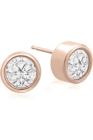 SuperJeweler 1.5 Carat Bezel Set Diamond Stud Earrings Crafted in 14K (2.1 g)