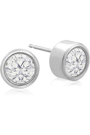 SuperJeweler 1 1/3 Carat Bezel Set Diamond Stud Earrings Crafted in 14K (2 g)