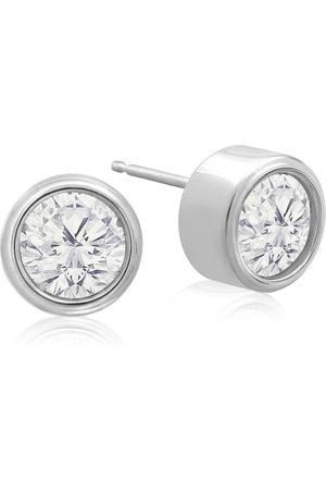 SuperJeweler Women Earrings - 2 Carat Bezel Set Diamond Stud Earrings Crafted in 14K (2.4 g)
