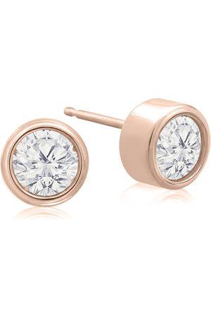 SuperJeweler 1/2 Carat Bezel Set Diamond Stud Earrings Crafted in 14K (1.1 g)