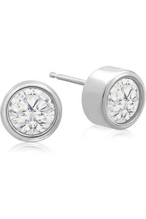 SuperJeweler 1 Carat Bezel Set Diamond Stud Earrings Crafted in 14K (1.8 g)