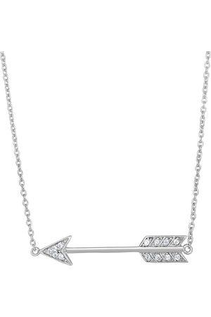 SuperJeweler Sterling Cubic Zirconia Cupid's Arrow Necklace