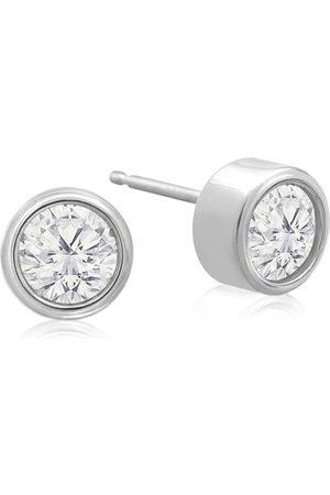 SuperJeweler 1/3 Carat Bezel Set Diamond Stud Earrings Crafted in 14K (0.8 g)