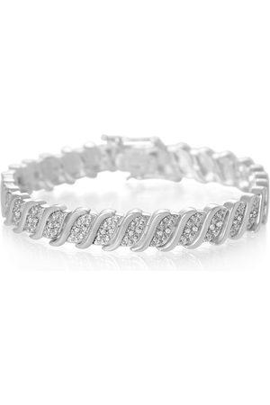 SuperJeweler 1/4 Carat Classic Diamond Tennis Bracelet in Overlay