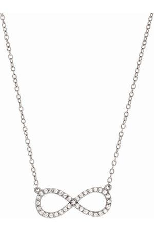 SuperJeweler Sterling Cubic Zirconia Infinity Pendant Necklace