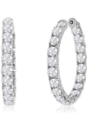 Hansa 14kwg 7 Carat Diamond Hoop Earring