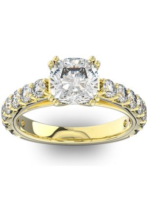 SuperJeweler 4 1/2 Carat Round Shape Double Prong Set Engagement Ring in 14K (6 g)