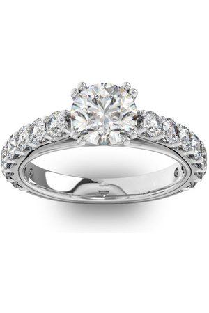SuperJeweler 2.5 Carat Round Shape Double Prong Set Engagement Ring in 14K (5 g)