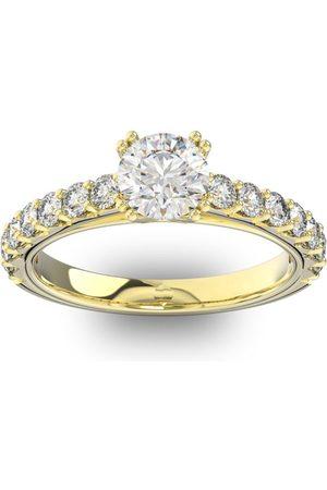 SuperJeweler 1.5 Carat Round Shape Double Prong Set Engagement Ring in 14K (3.7 g)