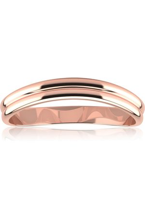 SuperJeweler (1.4 g) 3MM Comfort Fit Curved Double Wave Thumb Ring by