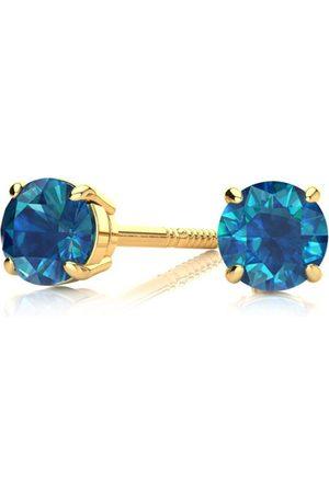 Hansa 1/2 Carat Blue Diamond Stud Earring in 14k by SuperJeweler