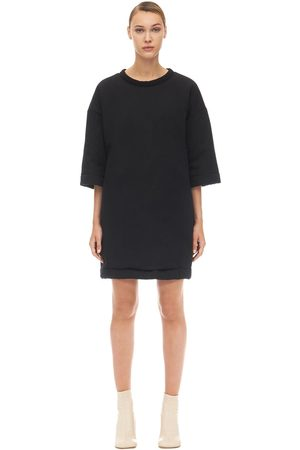 MM6 MAISON MARGIELA Oversized Cotton & Satin Mini Dress