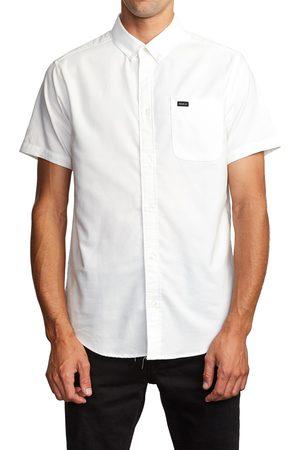 RVCA Men's That'Ll Do Solid Short Sleeve Button-Down Shirt