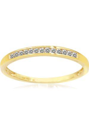 SuperJeweler Skinny 1/8 Carat Channel Set Diamond Wedding Band in