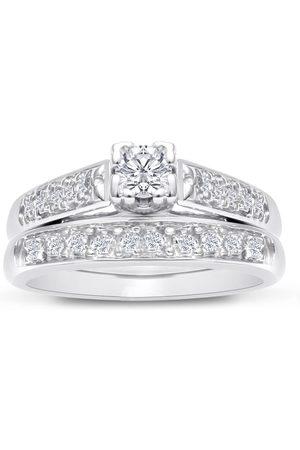 Hansa 1/4 Carat Ladies Traditional Diamond Bridal Ring Set in (4 g)
