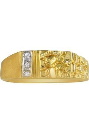 Hansa Nugget Style Men's Promise Ring w/ 3 Diamonds in (3 g)