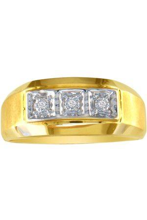 Hansa Men Rings - Classic Styled Men's Promise Ring w/ Three Diamonds (5.2 g)