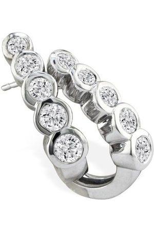 Hansa 3/4 Carat Bezel Set Journey Diamond Hoop Earrings in 14k (6 g)