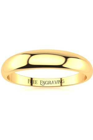 SuperJeweler Men Rings - 18K (3.1 g) 4MM Heavy Tapered Ladies & Men's Wedding Band
