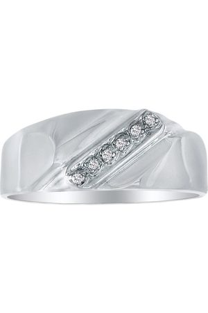 SuperJeweler Classic Diagonal .03 Carat Men's Diamond Wedding Band in (2.5 g)