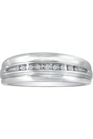 SuperJeweler Modern Channel Set Men's Diamond Wedding Band in (3.5 g)
