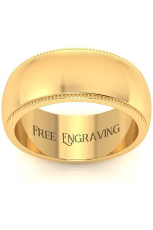 SuperJeweler 18K (9.4 g) 8MM Milgrain Ladies & Men's Wedding Band